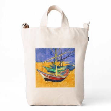 Beach Themed Van Gogh Impressionist Boats Duck Bag