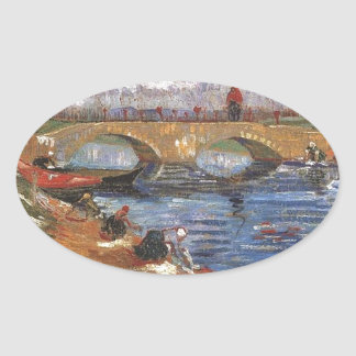 Van Gogh Impressionist Painter Vintage Art Oval Sticker