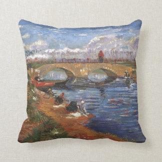Van Gogh Impressionist Painter Vintage Art Throw Pillow
