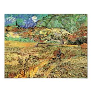 """Van Gogh incluyó el campo de trigo y la bella arte Invitación 4.25"""" X 5.5"""""""