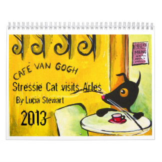 Van Gogh inspired Stressie Cat 2013 Calendar