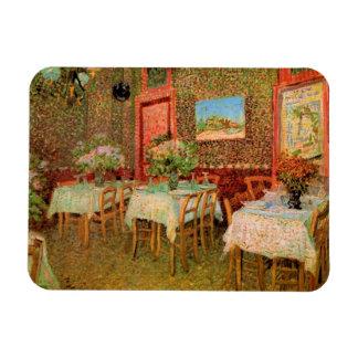 Van Gogh; Interior de un restaurante, arte del Iman De Vinilo