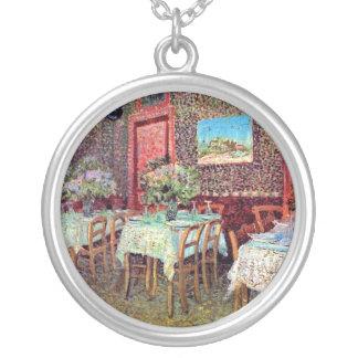 Van Gogh - interior de un restaurante Colgante Redondo