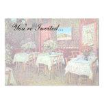 Van Gogh - interior de un restaurante Invitación 12,7 X 17,8 Cm