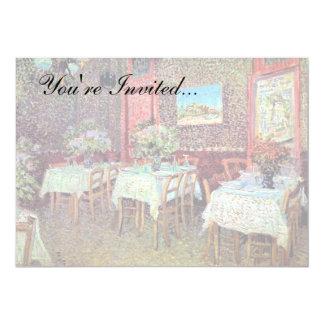 """Van Gogh - interior de un restaurante Invitación 5"""" X 7"""""""