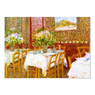 """Van Gogh: Interior de un restaurante Invitación 5"""" X 7"""""""