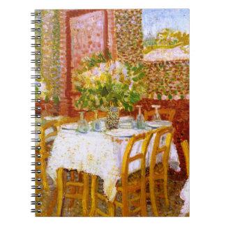 Van Gogh: Interior de un restaurante Libro De Apuntes