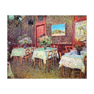 Van Gogh - interior de un restaurante Lienzo Envuelto Para Galerias