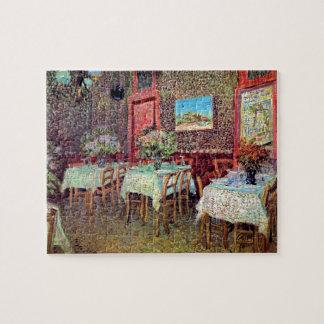 Van Gogh - interior de un restaurante Rompecabeza Con Fotos