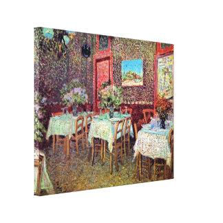 Van Gogh - Interior Of A Restaurant Stretched Canvas Print