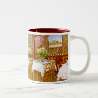 Van Gogh: Interior of a Restaurant Two-Tone Coffee Mug