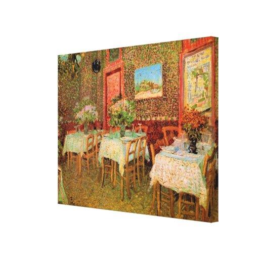 Van Gogh; Interior of a Restaurant, Vintage Art Canvas Print