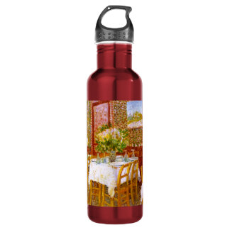 Van Gogh: Interior of a Restaurant Water Bottle