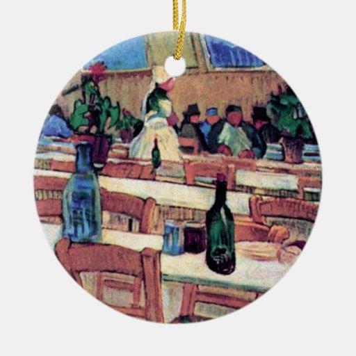 Van Gogh - Interior Of Restaurant Carrel In Arles Ceramic Ornament
