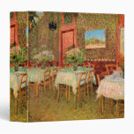 Van Gogh Interior of Restaurant, Vintage Fine Art 3 Ring Binder
