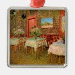 Van Gogh Interior of Restaurant, Vintage Fine Art Metal Ornament