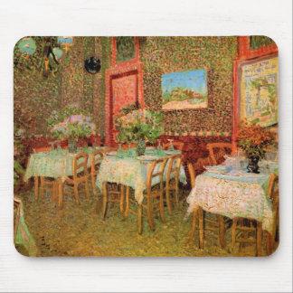 Van Gogh Interior of Restaurant, Vintage Fine Art Mouse Pad