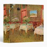 Van Gogh Interior of Restaurant, Vintage Fine Art Vinyl Binders