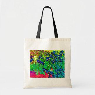 Van Gogh - iris del arte pop Bolsa Tela Barata