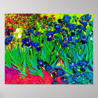 Van Gogh - iris del arte pop Impresiones