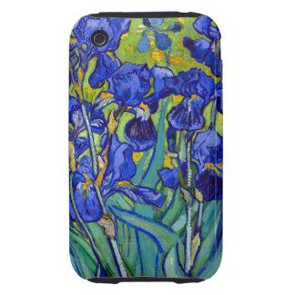 Van Gogh irisa 1889 Tough iPhone 3 Cárcasa