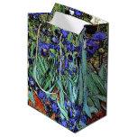 Van Gogh irisa el bolso floral del regalo del Bolsa De Regalo Mediana