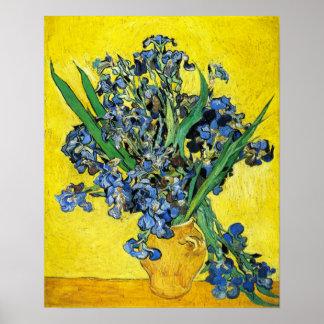 Van Gogh irisa el poster Póster