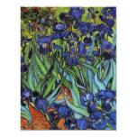 """Van Gogh irisa invitaciones Invitación 4.25"""" X 5.5"""""""