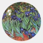 Van Gogh irisa la bella arte del vintage (F608) Etiquetas