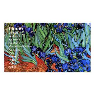 Van Gogh irisa la bella arte del vintage (F608) Tarjeta De Visita
