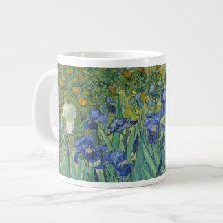Van Gogh irisa la bella arte (F608) Taza De Café Grande