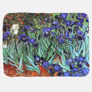Van Gogh irisa la manta floral del bebé del jardín Mantas De Bebé