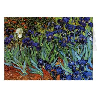 Van Gogh irisa la tarjeta de nota