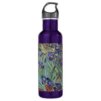 Van Gogh irisa las flores impresionistas Botella De Agua