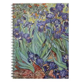 Van Gogh irisa las flores impresionistas Cuadernos