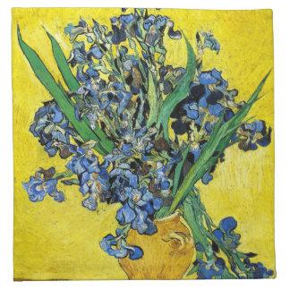 Van Gogh irisa servilletas