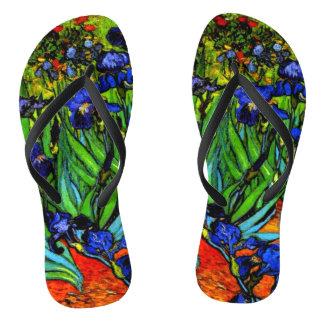 Van Gogh - Irises, 1889 Flip Flops