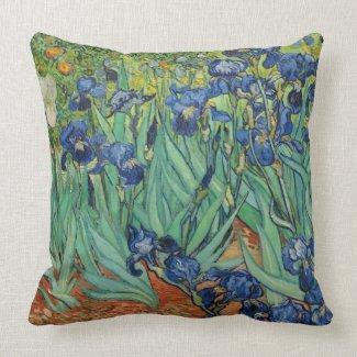 "Van Gogh Irises 20"" Throw Pillow"
