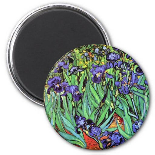 Van Gogh - Irises 2 Inch Round Magnet
