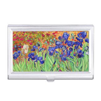 van gogh irises at st. remy business card holder