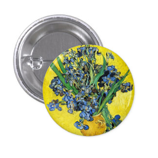 Van Gogh Irises Button