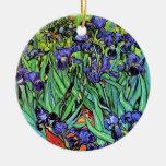 Van Gogh - Irises Christmas Tree Ornament