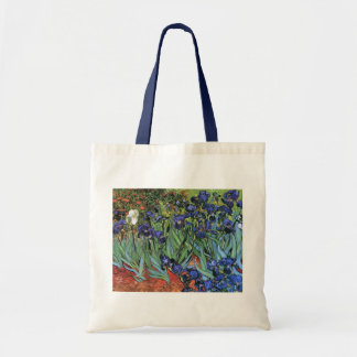 Van Gogh Irises (F608) Vintage Fine Art Canvas Bags