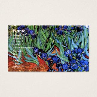 Van Gogh Irises (F608) Vintage Fine Art Business Card