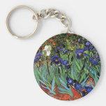 Van Gogh Irises (F608) Vintage Fine Art Key Chain