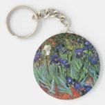 Van Gogh Irises (F608) Vintage Fine Art Keychains