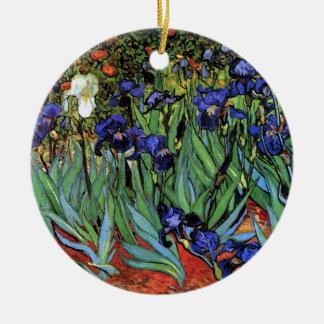 Van Gogh Irises F608 Vintage Fine Art Christmas Ornaments