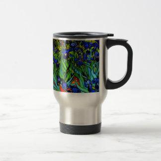 Van Gogh - Irises, famous painting by Van Gogh Travel Mug
