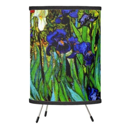 Van Gogh - Irises, fine art floral painting Tripod Lamp