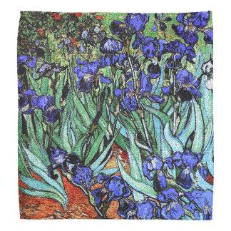Van Gogh Irises Flowers Floral Garden Bandana